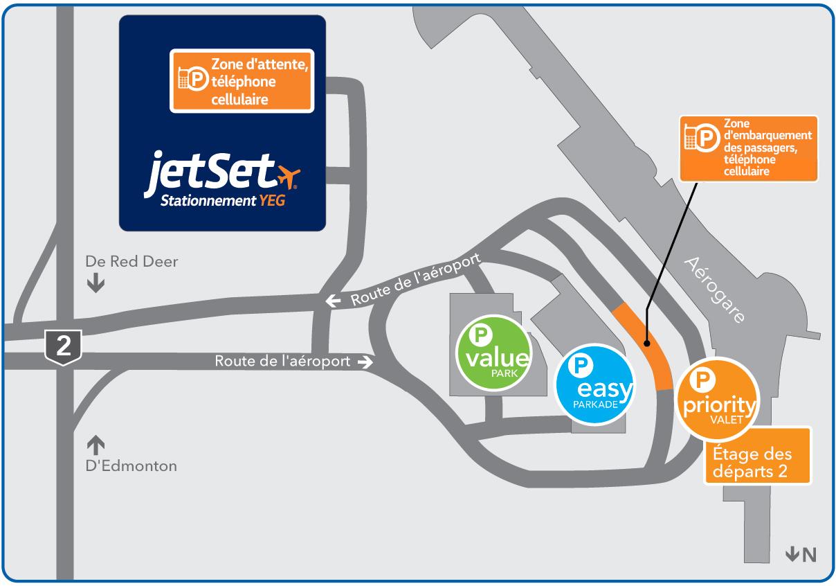 Carte des services de stationnement de l'AIE