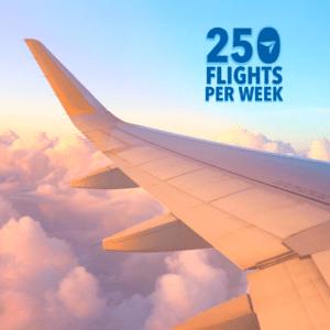 250 vols actuels