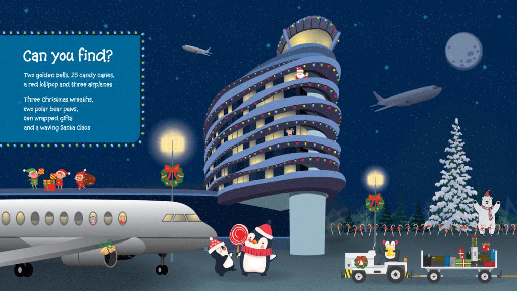 Pouvez-vous trouver le graphique - l'image de la tour AIE et les graphiques de Noël